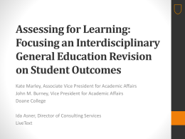 Session slides available here - Association of American Colleges
