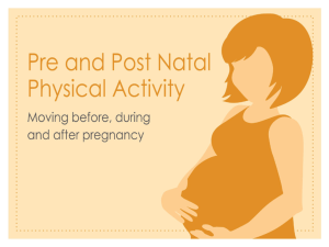 exercise pregnancy - PARC - The Physical Activity Resource Centre