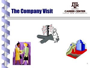 The Company Visit - CS Course Webpages