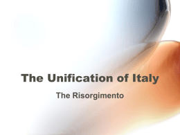 The Unification of Italy - Italian
