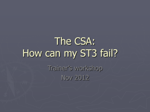 Why do registrars fail the CSA? - CityandHackneyTrainersWorkshop