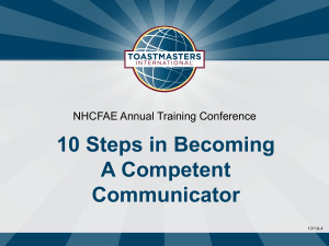 10 Steps in Becoming a Competent Communicator