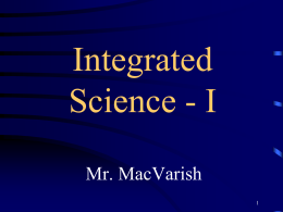 File - Integrated Science I