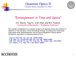 Entanglement and the Quantum Memory Force
