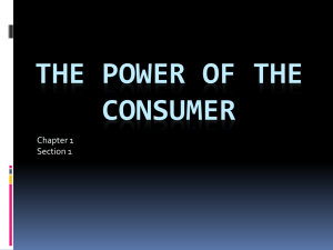 The Power of the Consumer