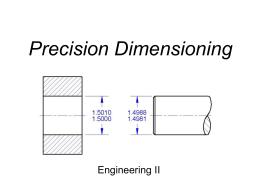 Dimensioning and Conventional Tolerancing
