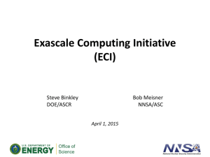 Exascale Computing Initiative