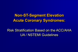 Risk Stratification Based on the ACC/AHA Guidelines