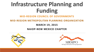 Infrastructure Planning and Funding3