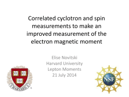 Correlated cyclotron and spin measurements to make