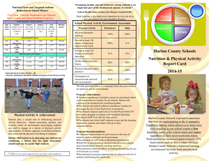 Harlan County Schools Nutrition & Physical Activity Report Card for
