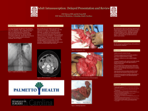 Adult Intussusception: Delayed Presentation and Review CM
