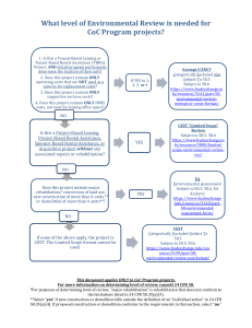 CoC Program Environmental Review Flow Chart