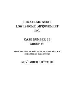 Strategic Audit Lowes Inc Rev 2