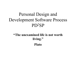Lecture Slides on PDSP.
