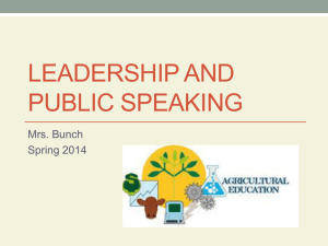 PowerPoint about Leadership and Public Speaking