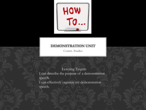 Demo. Notes - Community Unit School District 200