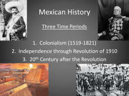 Mexican History - Loyola Blakefield