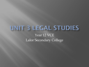 unit 3 legal studies - LegalStudiesYr12LSC