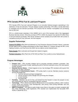 (PFA) Fuel & Lubricant Program