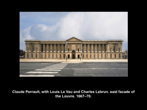 Claude Perrault, with Louis Le Vau and Charles Lebrun. east facade