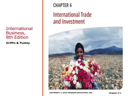 CHAPTER 5 International Trade and Investments