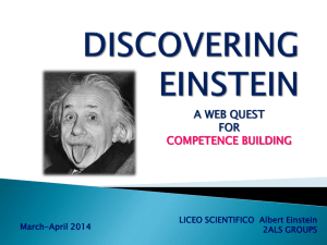 SCOPRENDO EINSTEIN - Marilenabeltramini.it