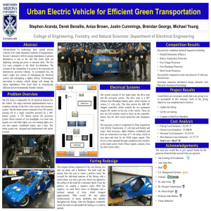 Urban Electric Vehicle for Efficient Green Transportation Stephen