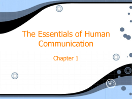 The Essentials of Human Communication