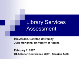 OLA Services Assessment