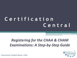"""hub"" of your personal certification central. Using your"