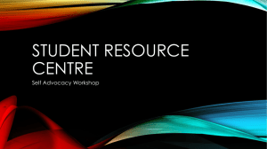 Student Resource Centre Self Advocacy