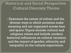Historical and Social Perspective Ancient Worlds Theme