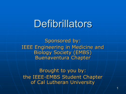 Defibrillators - Buenaventura IEEE Engineering in Medicine and