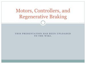 Motors, Controllers, and Regenerative Braking
