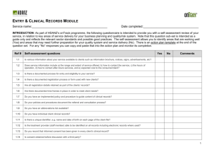On Track Provider Self Assessment Tool