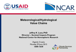 Meteorological/Hydrological Value Chains
