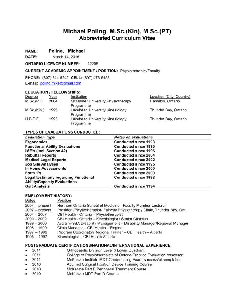 resume for trainer and assessor