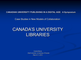 Canadian university libraries.