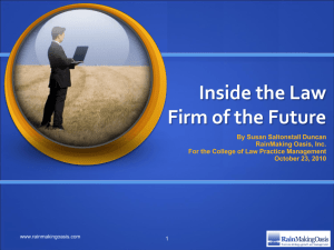 Inside the Law Firm of the Future