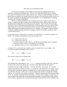 A Complete Derivation of Covered Interest Parity
