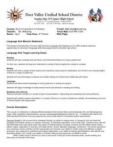 ELA 3-4 '14-'15 Syllabus - Deer Valley Unified School District