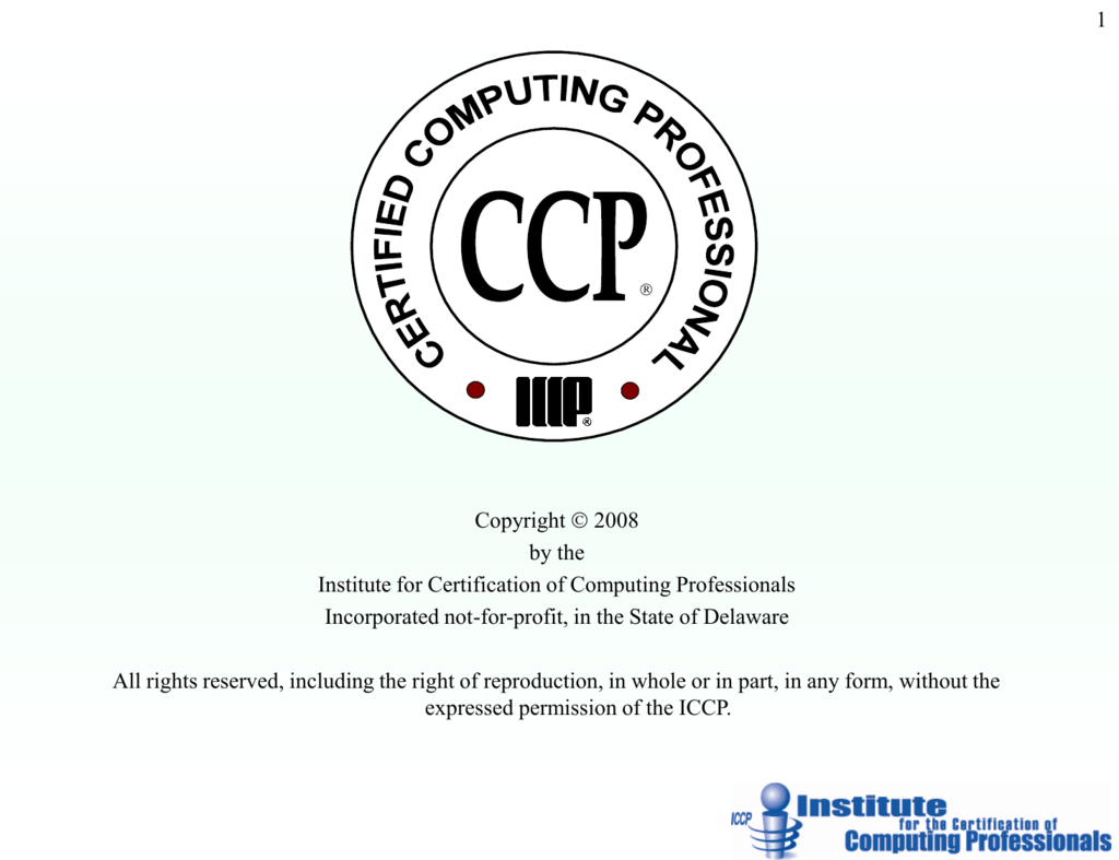 Iccp Certification Powerpoint