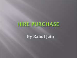hirepurchase - Learning Financial Management