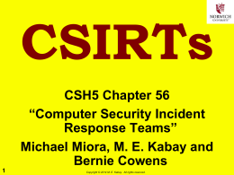 Computer Security Incident Response Teams