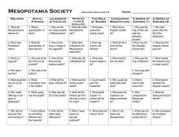Mesopotamia Society Discovery Education 3.2 Name: Religion