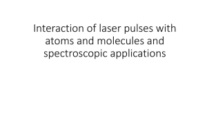 Interaction of Laser Pulses with Atoms and Molecules