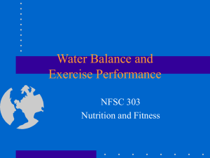 Water Balance and Exercise Performance