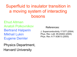 ppt - Harvard Condensed Matter Theory group