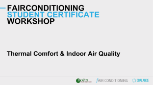 Thermal Comfort - Fair Conditioning